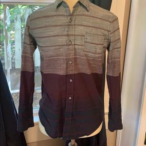 Boys navy/burgundy Casual long sleeve | Size 14 |